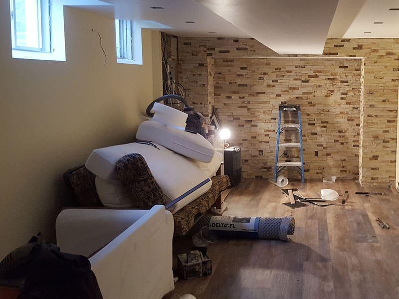 Small basement renovation