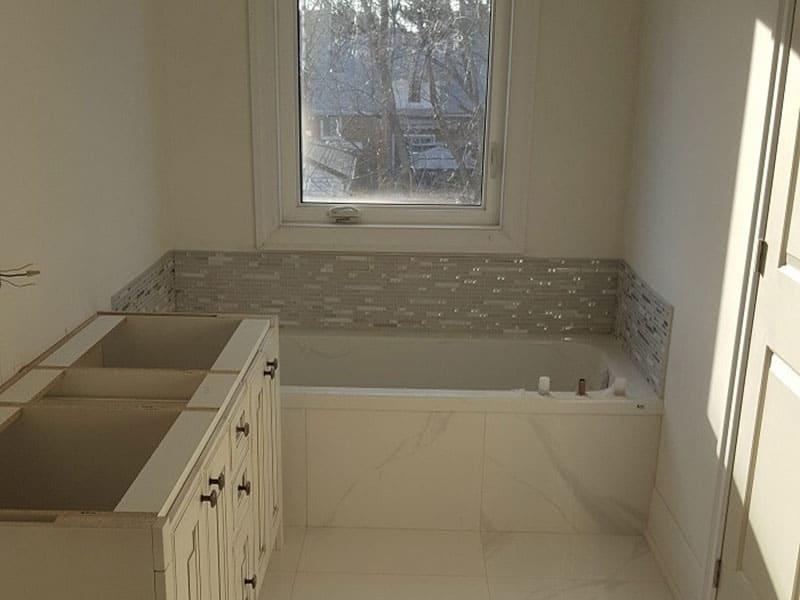 Bathtub to shower transformation