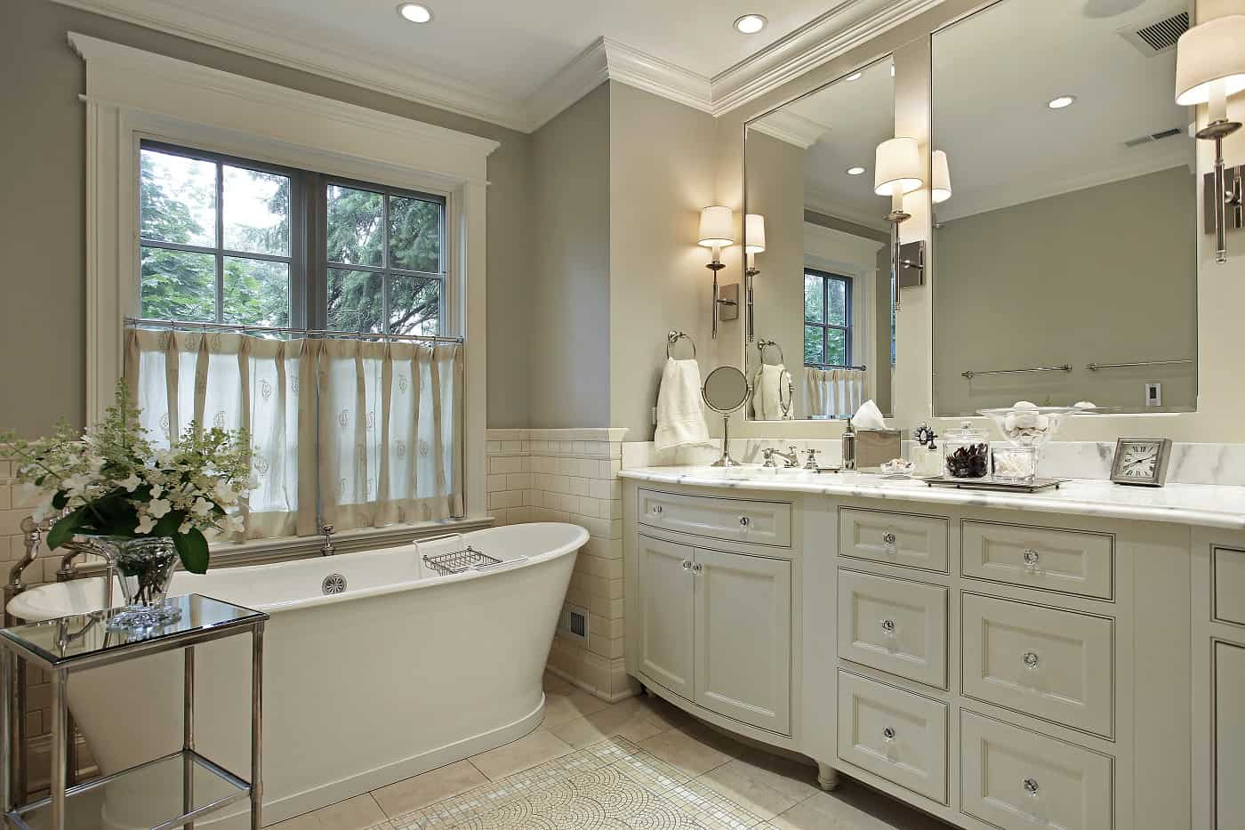 Rustic bathroom style after remodeling