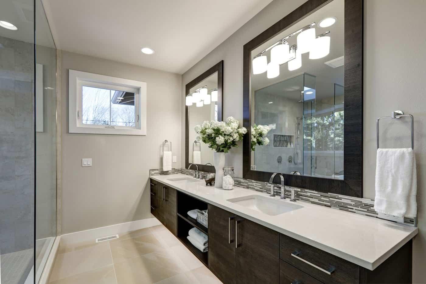 Big bathroom renovation in modern style