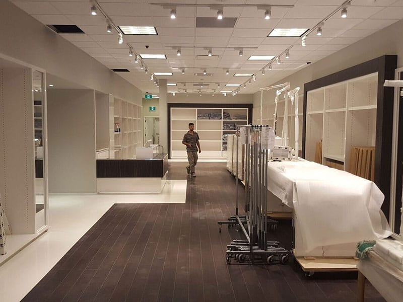High-end fashion store renovation in Toronto